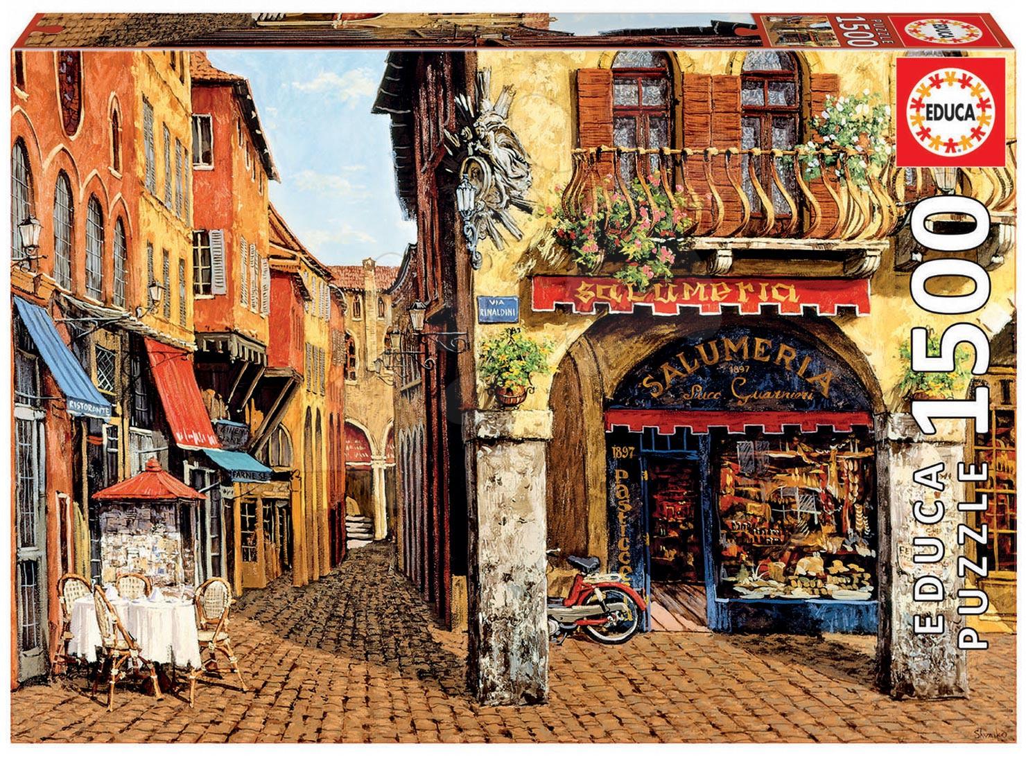 Puzzle 1500 dielne - Puzzle Genuine Colors of Italy - Salumeria, Viktor Shvaiko Educa 1500 dielov