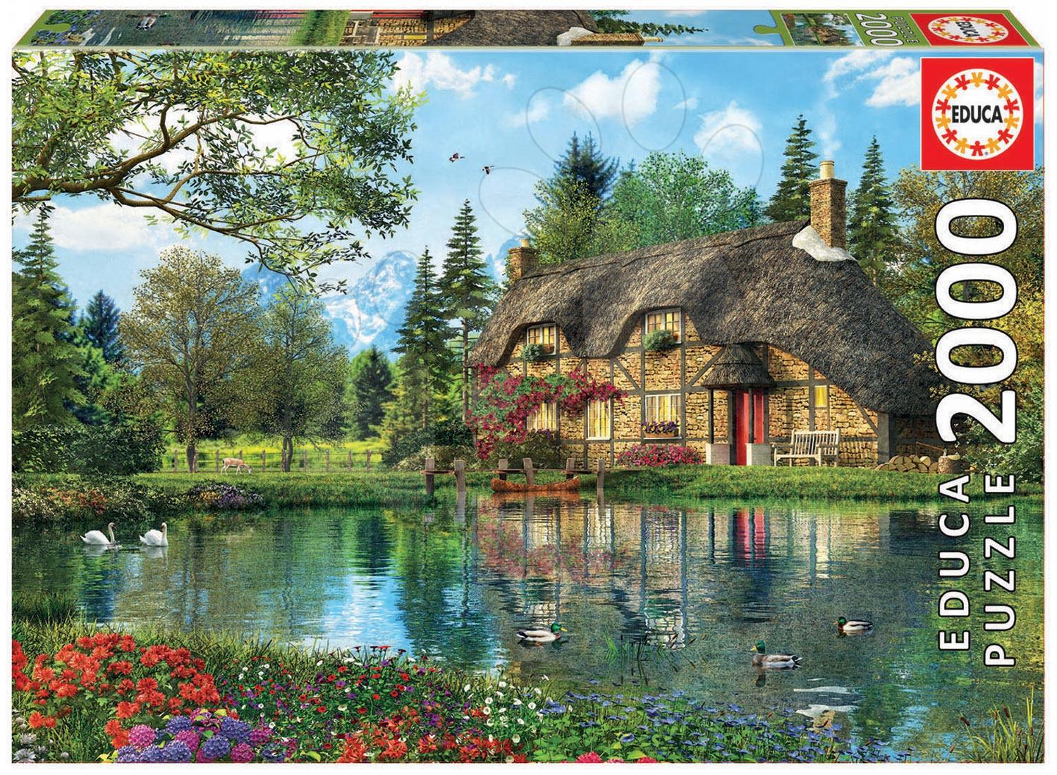 Puzzle Genuine Lake view cottage Educa 2000 dílů