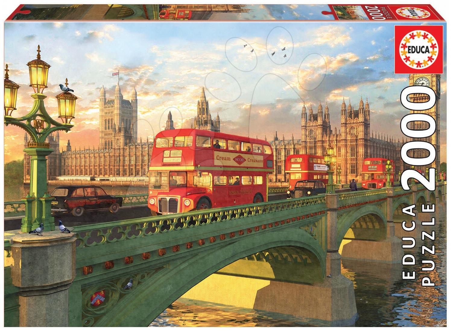 EDUCA 16777 Puzzle Genuine Westminster Bridge, London 2000 dielikov od 13 rokov