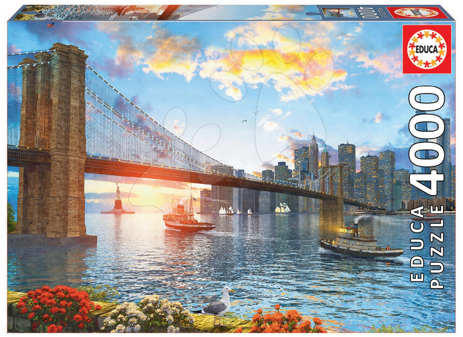 Puzzle Genuine Brooklyn Bridge Educa 4000 dílů od 15 let