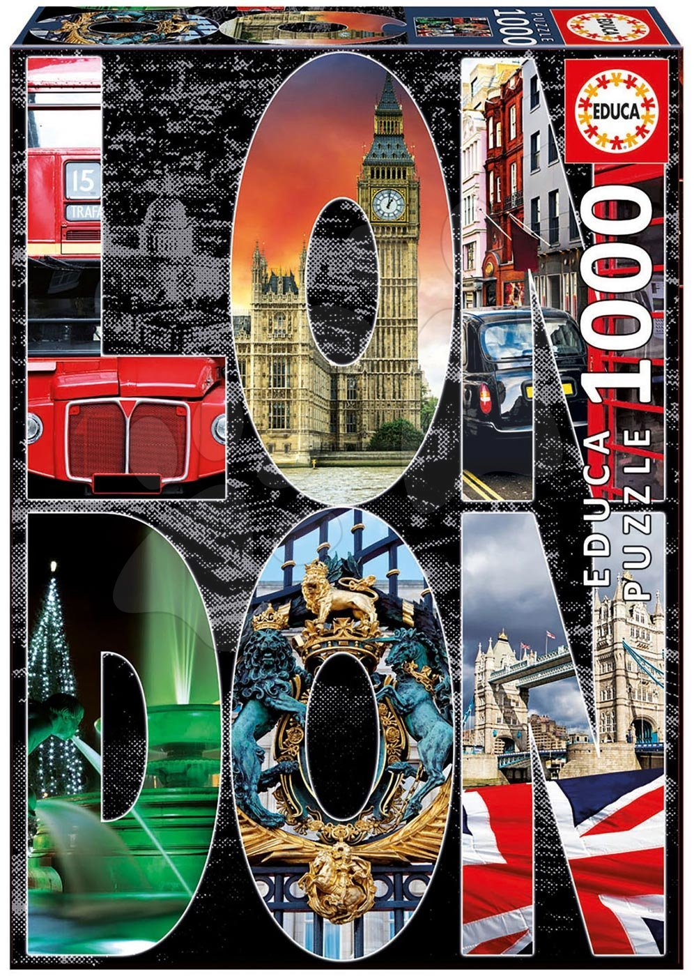 EDUCA 16786 puzzle City collages - London collage 1000 dielikov od 12 rokov
