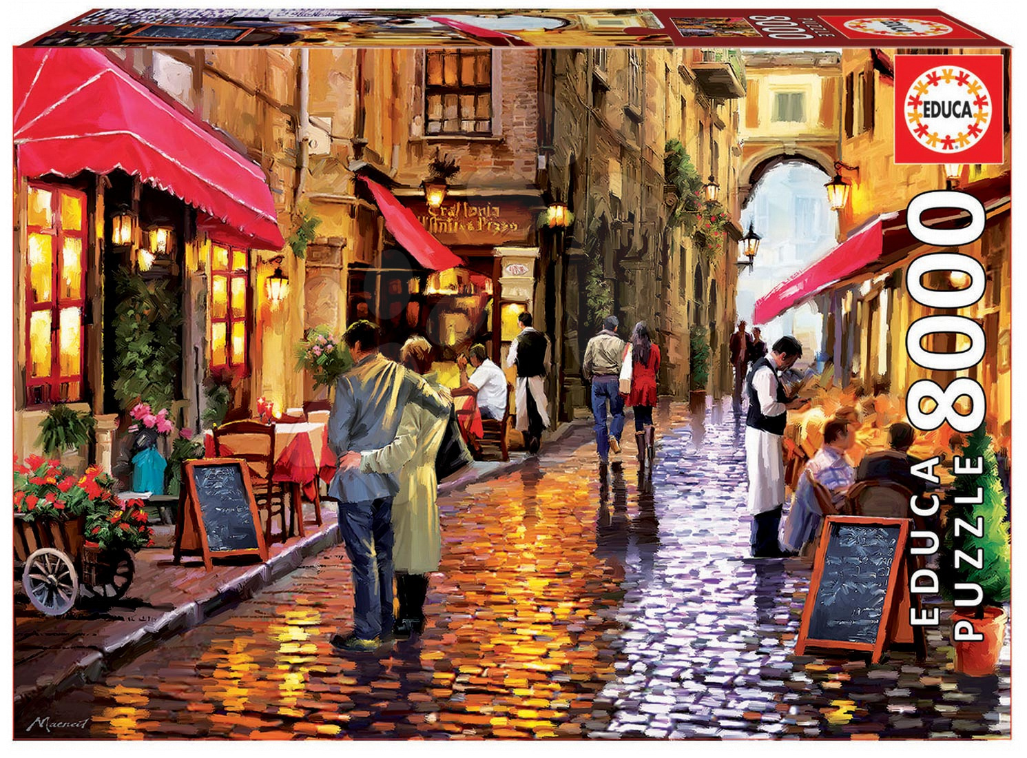 Puzzle Genuine Cafe street Educa 8000 dielov od 15 rokov