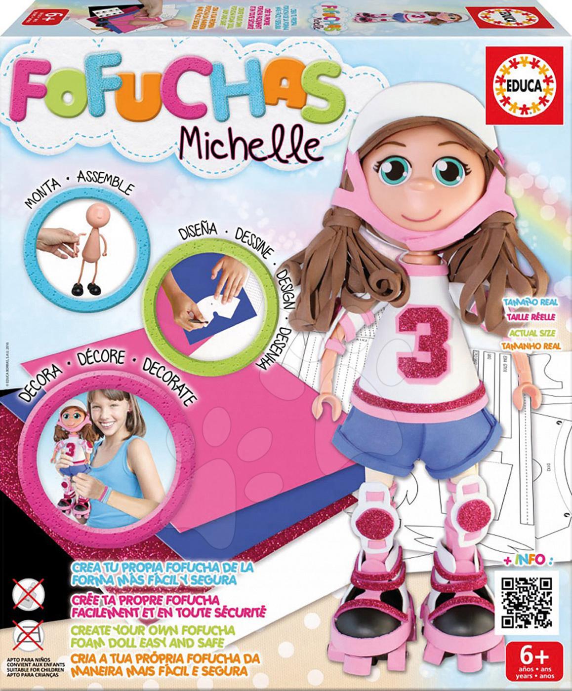 Stylová panenka Fofuchas bruslařka Michelle Educa Obleč ji sama od 6 let