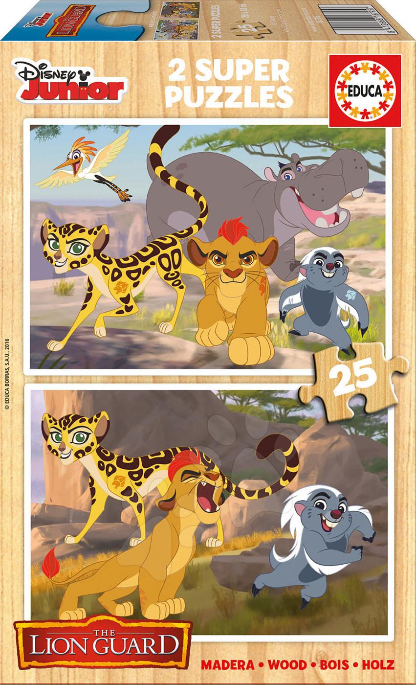 Drevené puzzle Leví Kráľ Educa 2x25 dielov