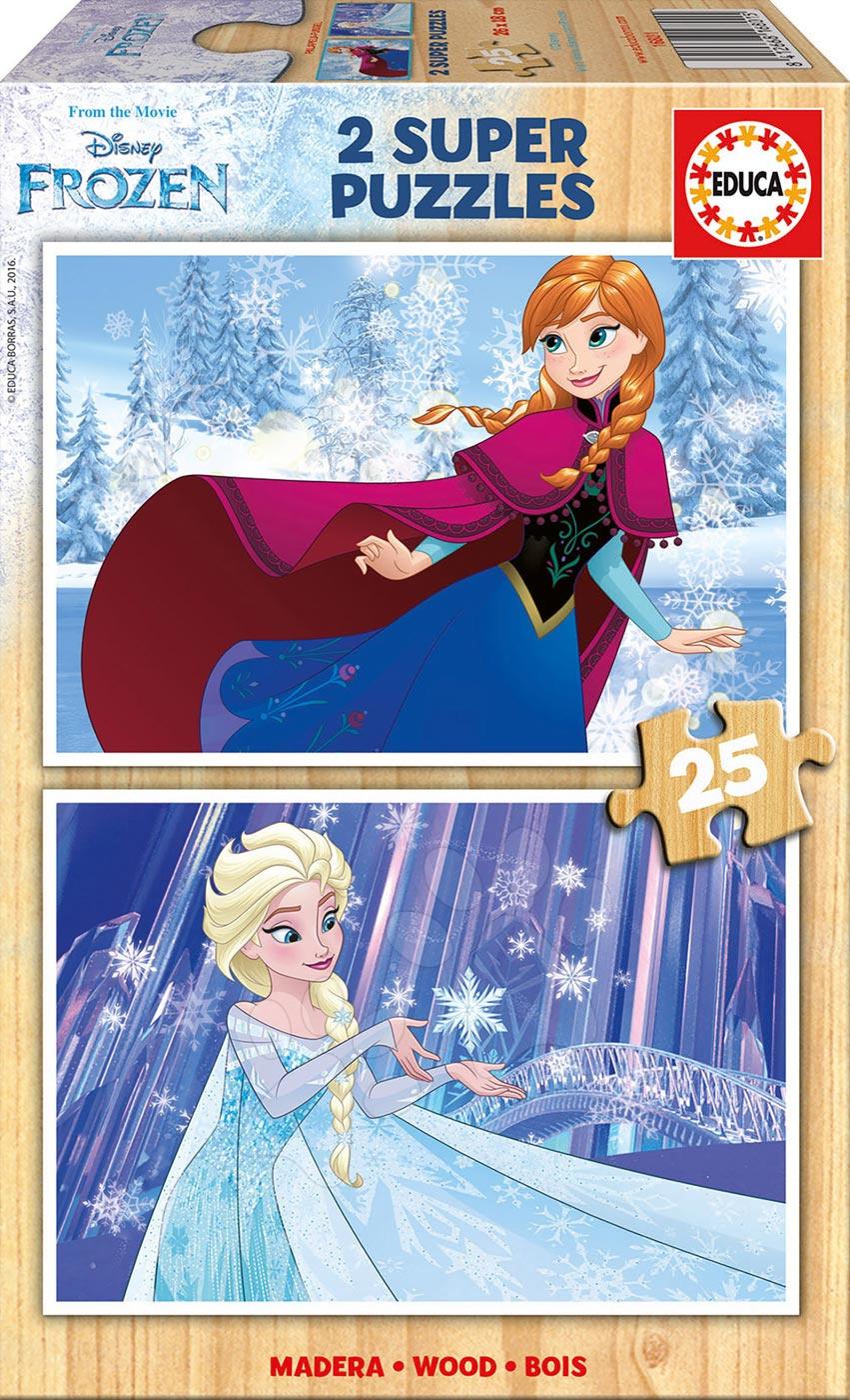 Dřevěné puzzle Frozen Educa 2x25 dílů