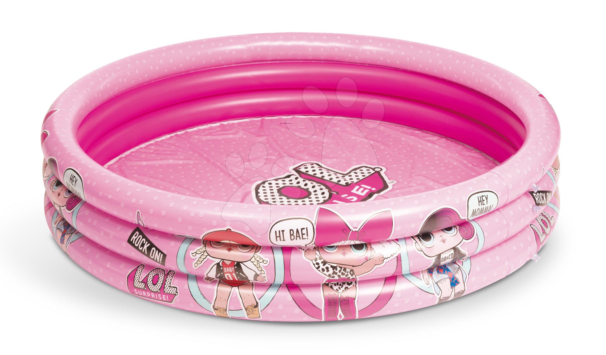Nafukovací bazén Lol Mondo 122 cm priemer 3-komorový od 10 mes