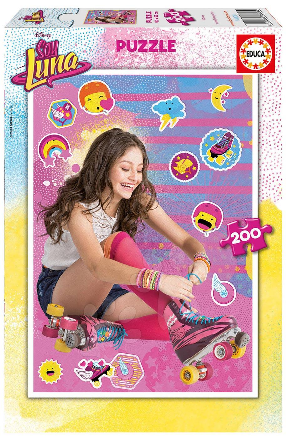 Detské puzzle od 100-300 dielov - Puzzle Soy Luna Educa 200 dielov od 6 rokov
