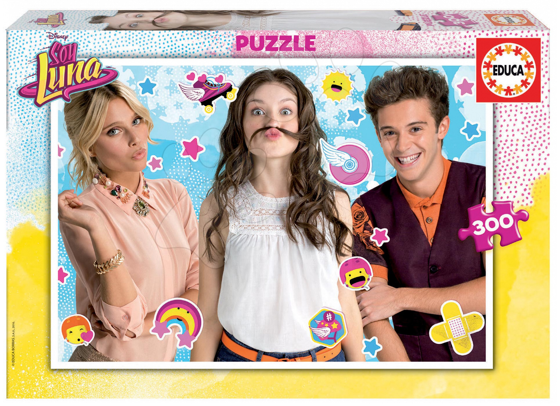 Detské puzzle od 100-300 dielov - Puzzle Soy Luna Educa 300 dielov od 8 rokov