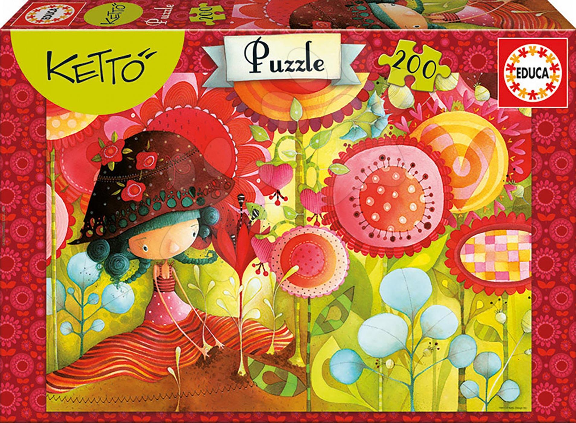 Detské puzzle od 100-300 dielov - Puzzle Ketto Educa 200 dielov od 6 rokov