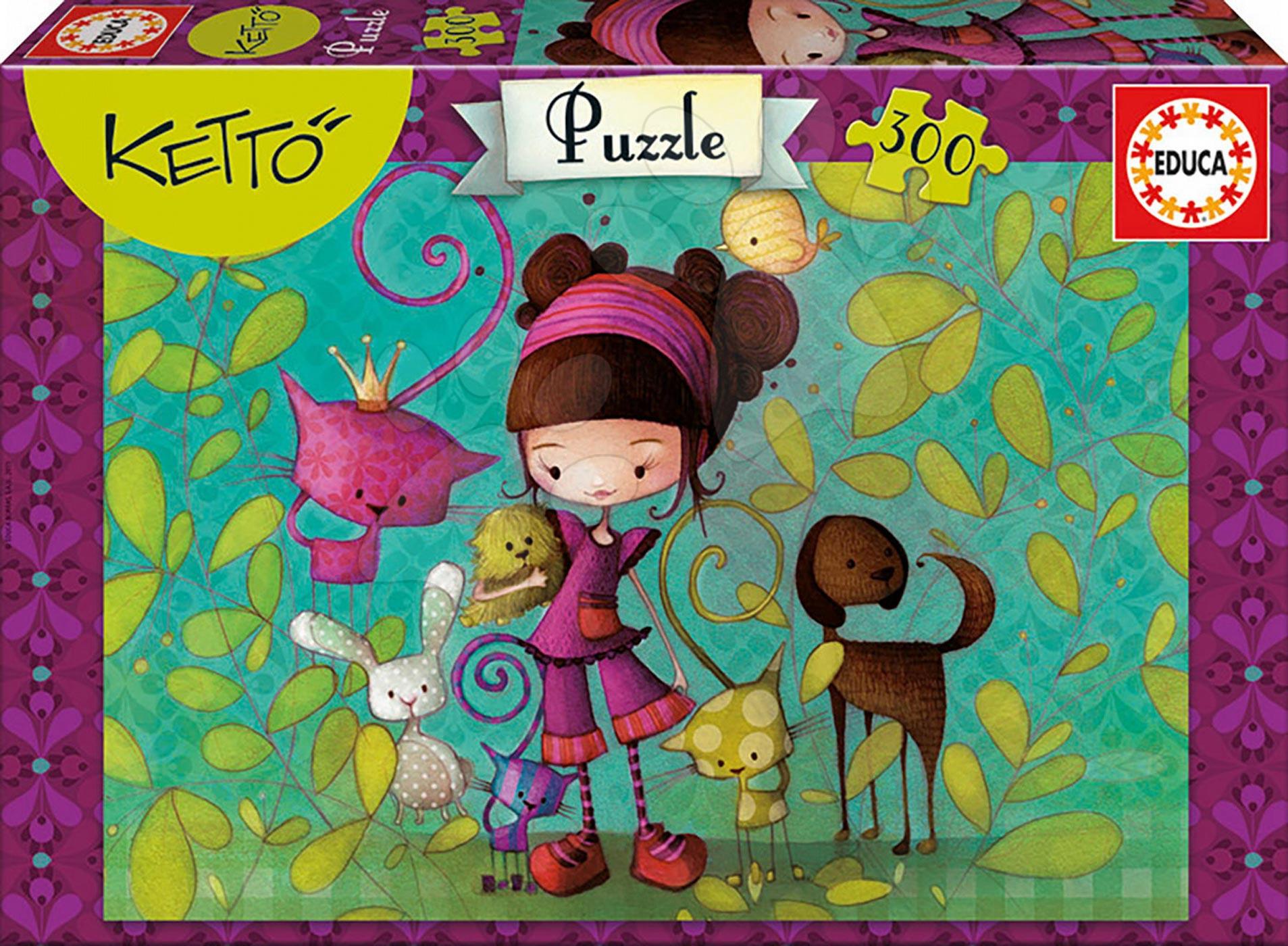 Detské puzzle od 100-300 dielov - Puzzle Ketto s priateľmi Educa 300 dielov od 8 rokov