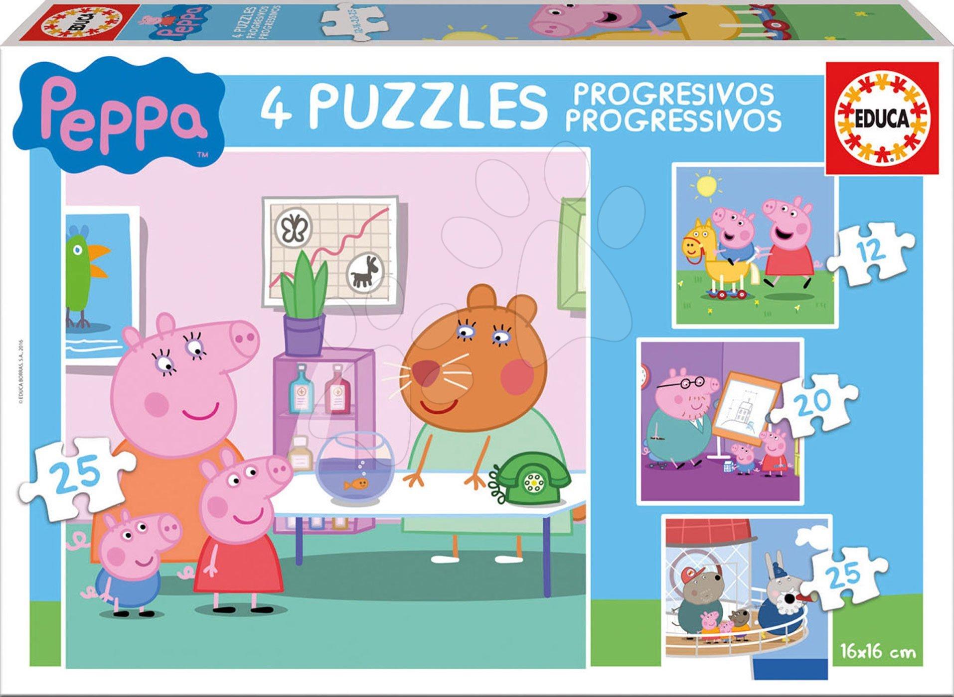 be8f3ab75 Puzzle Peppa Pig Educa progresivní 12-16-20-25 dílků