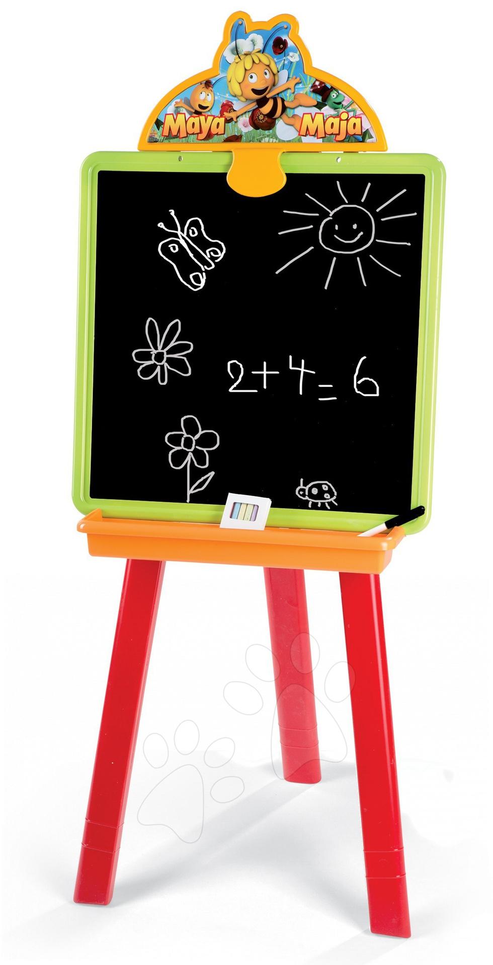 Staré položky - Včielka Maja tabuľa Smoby obojstranná 2v1 s 18 doplnkami