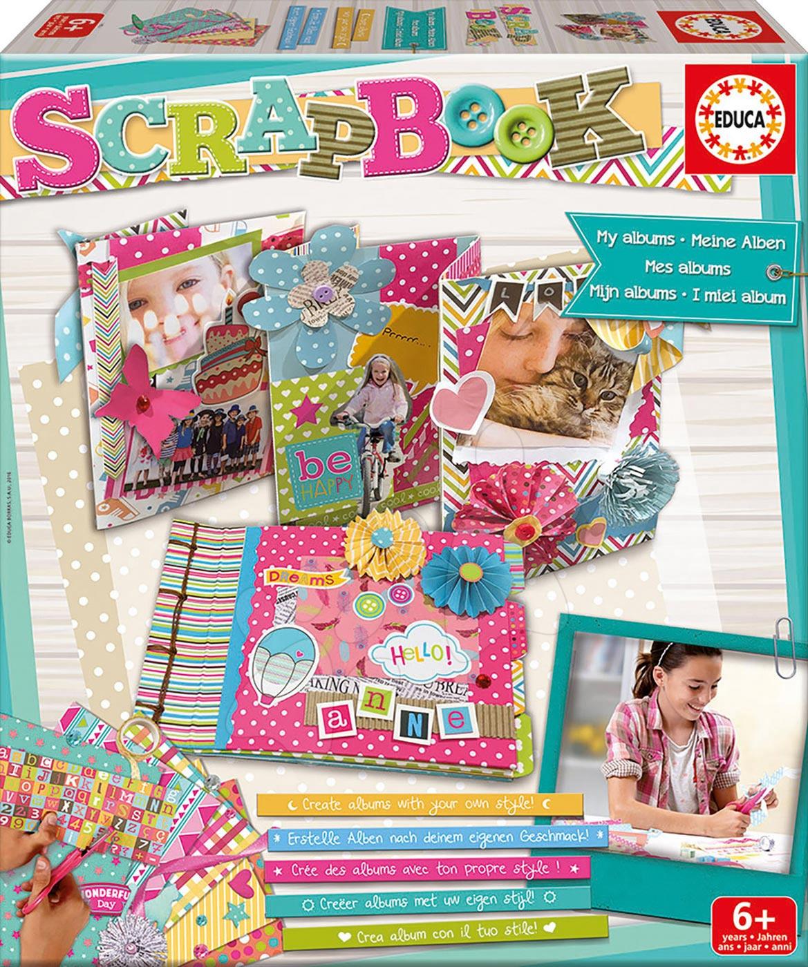 Ručné práce a tvorenie - Kreatívny set Scrapbook Môj Album Educa pre šikovné ruky od 6 rokov