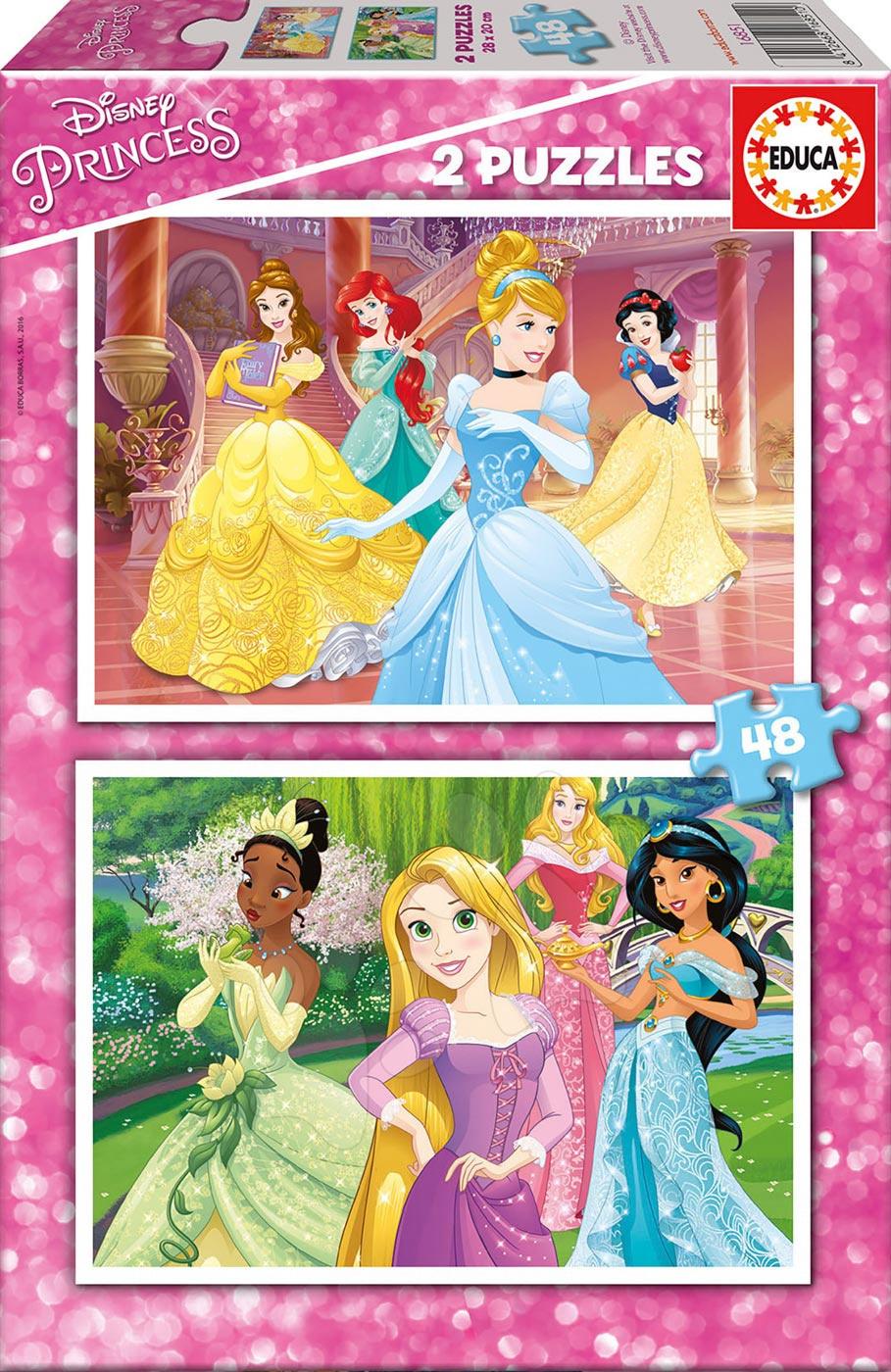 Puzzle Disney Princezny Educa 2x48 dílků