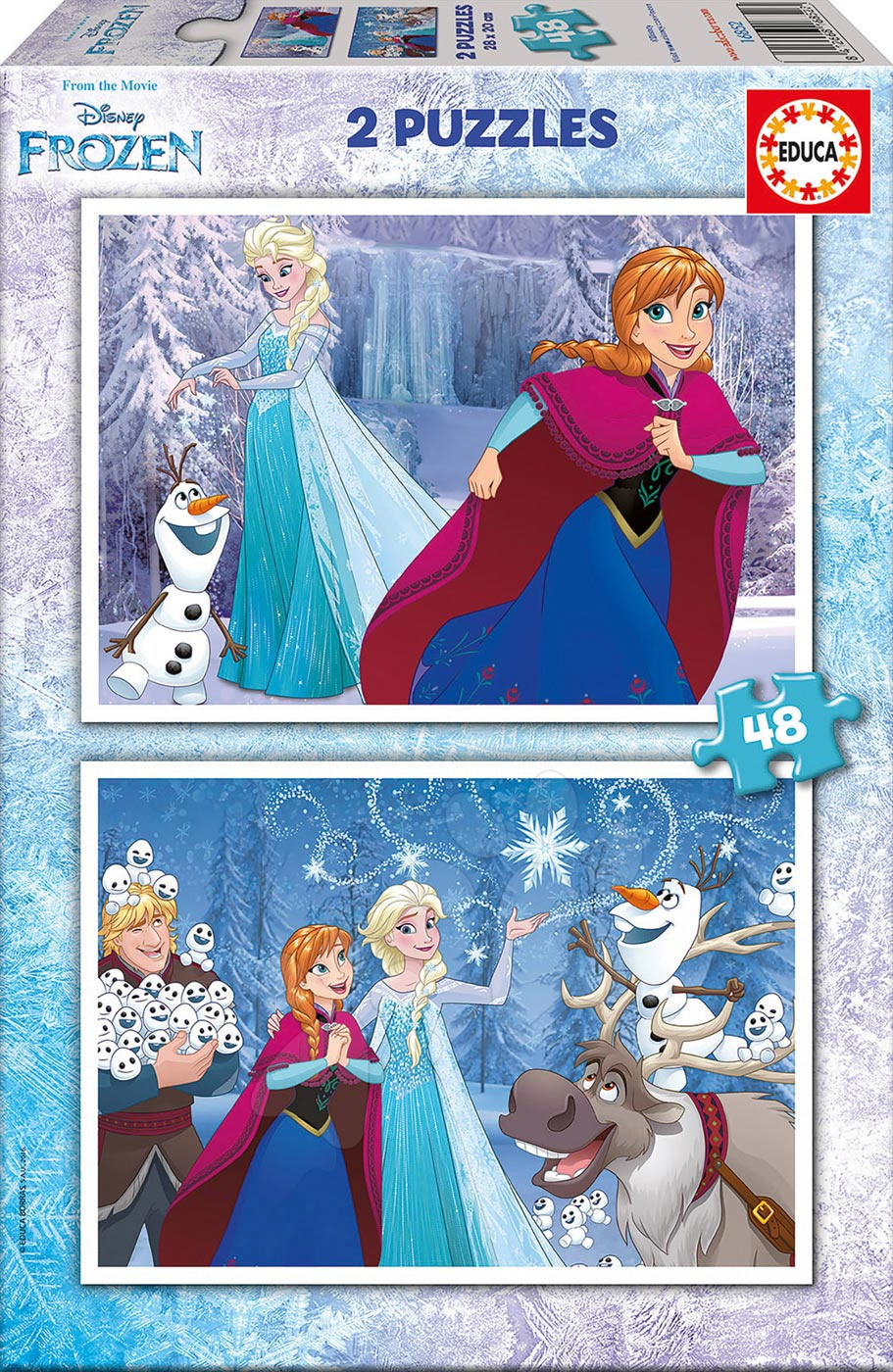 Puzzle Frozen Educa 2x48 dílků