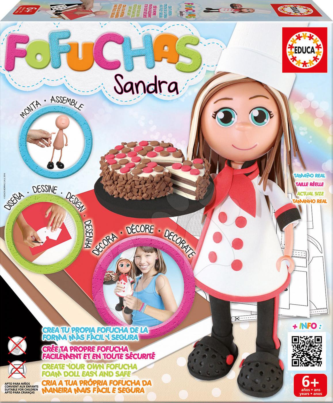 Stylová panenka Fofuchas kuchařka Sandra Educa Obleč ji sama od 6 let