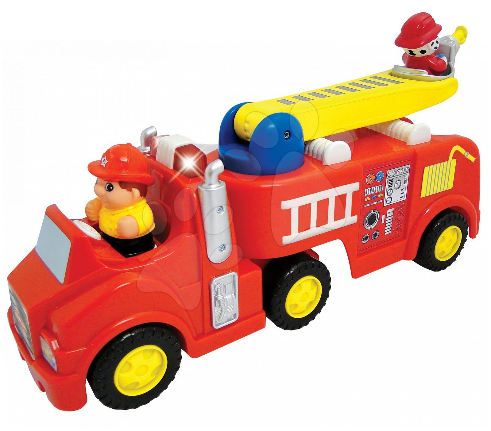 Hračky zvukové - Hasičské auto Activity Kiddieland s figurkou, se zvukem a světlem od 18 měsíců