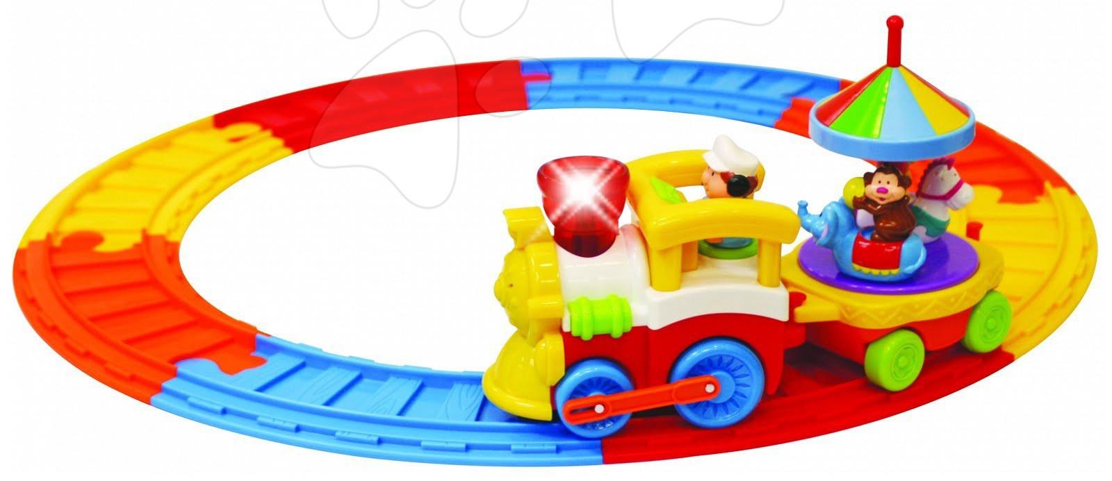 Tren de circ cu şine Activity Kiddieland cu sunet şi lumină de la 12 luni