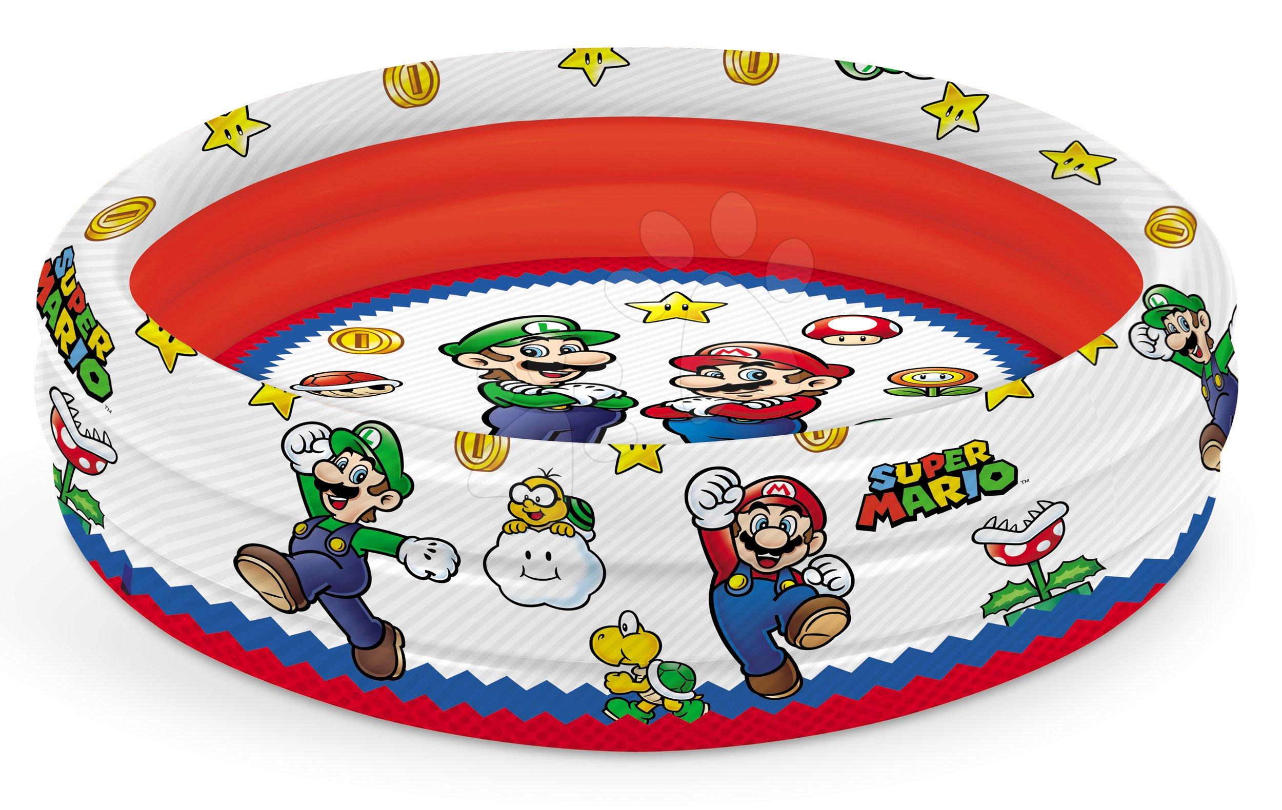 Nafukovací bazén trojkomorový Super Mario Mondo 100 cm priemer od 10 mes