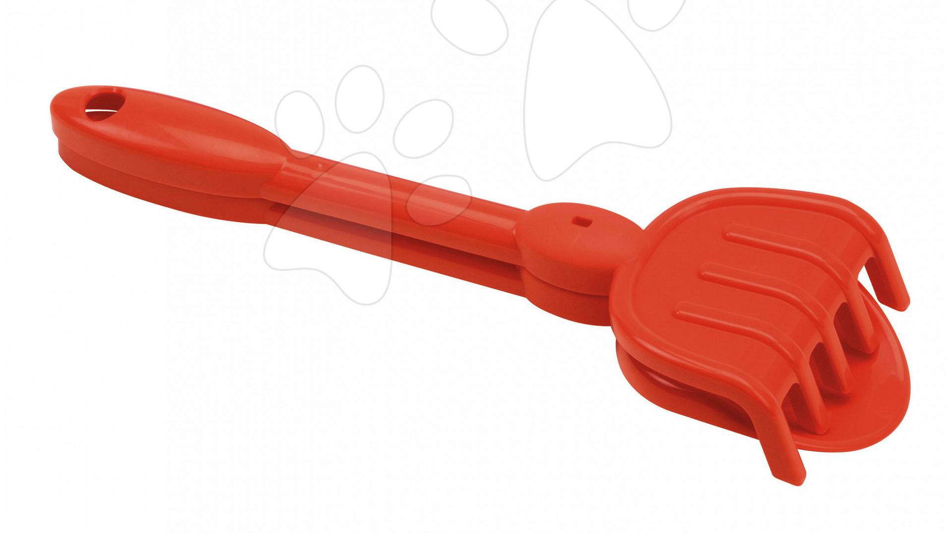 Lopatky do písku - Sada lopatka a hrábě Écoiffier (délka 30 cm) červená od 18 měsíců