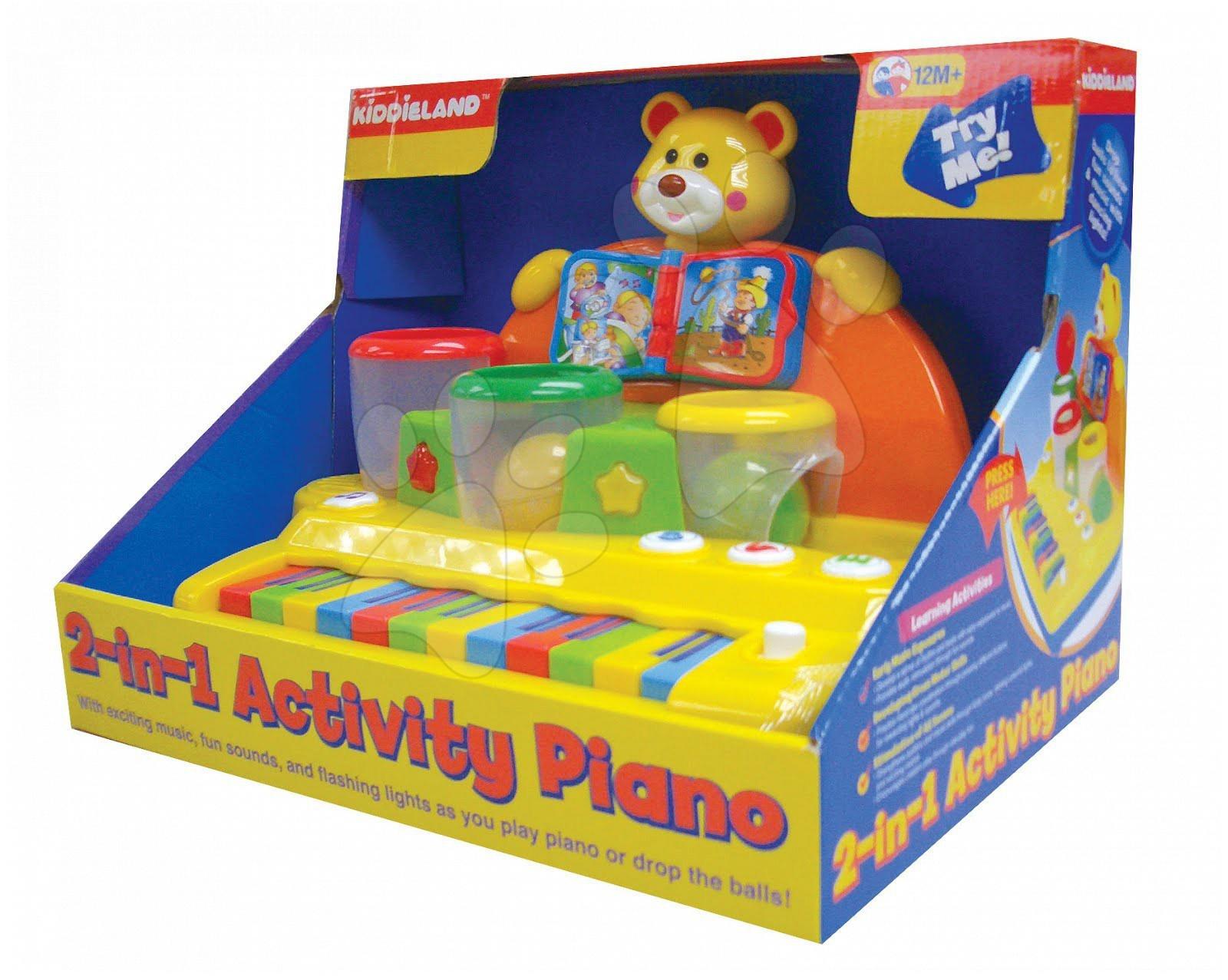 Activity piano Kiddieland elektrické 2v1 s loptičkou od 12 mes