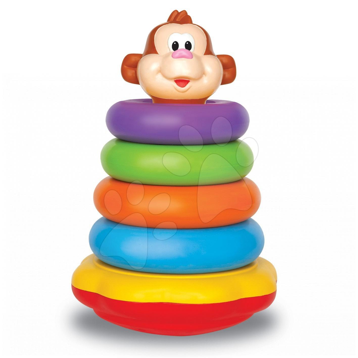 Activity zábavná opička Kiddieland s kroužky s funkcemi, od 12 měsíců