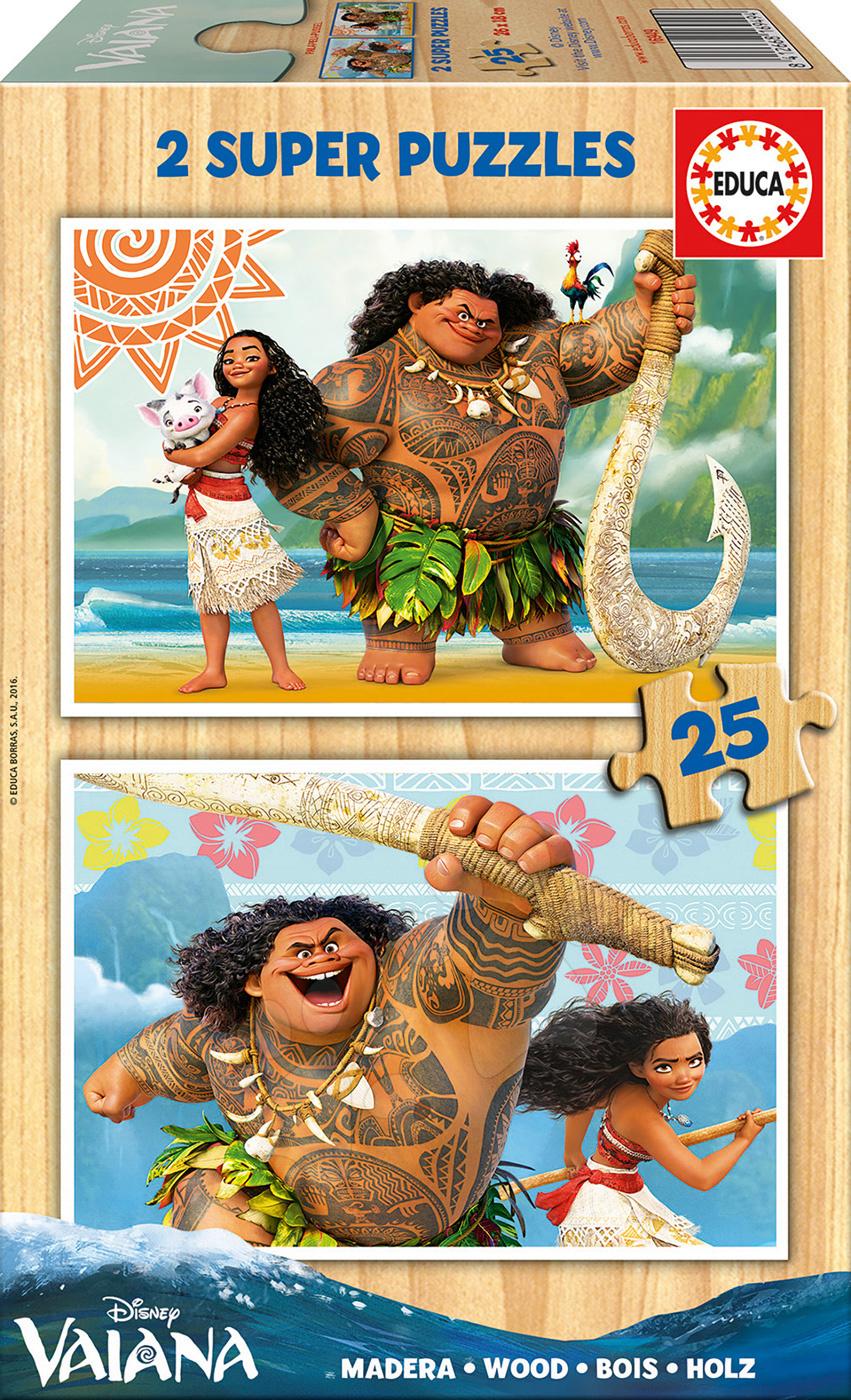 Dřevěné puzzle Vaiano Disney Educa 2x25 dílů od 4 let