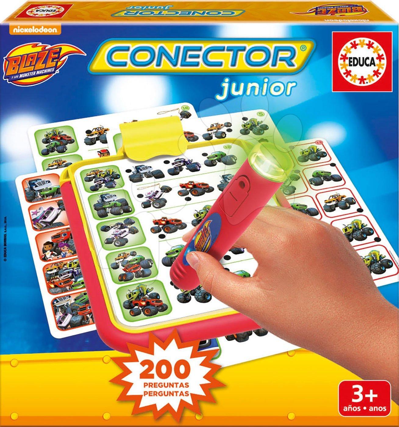 Spoločenská hra Blaze autá Conector junior Educa 40 kariet a 200 otázok a inteligentné pero