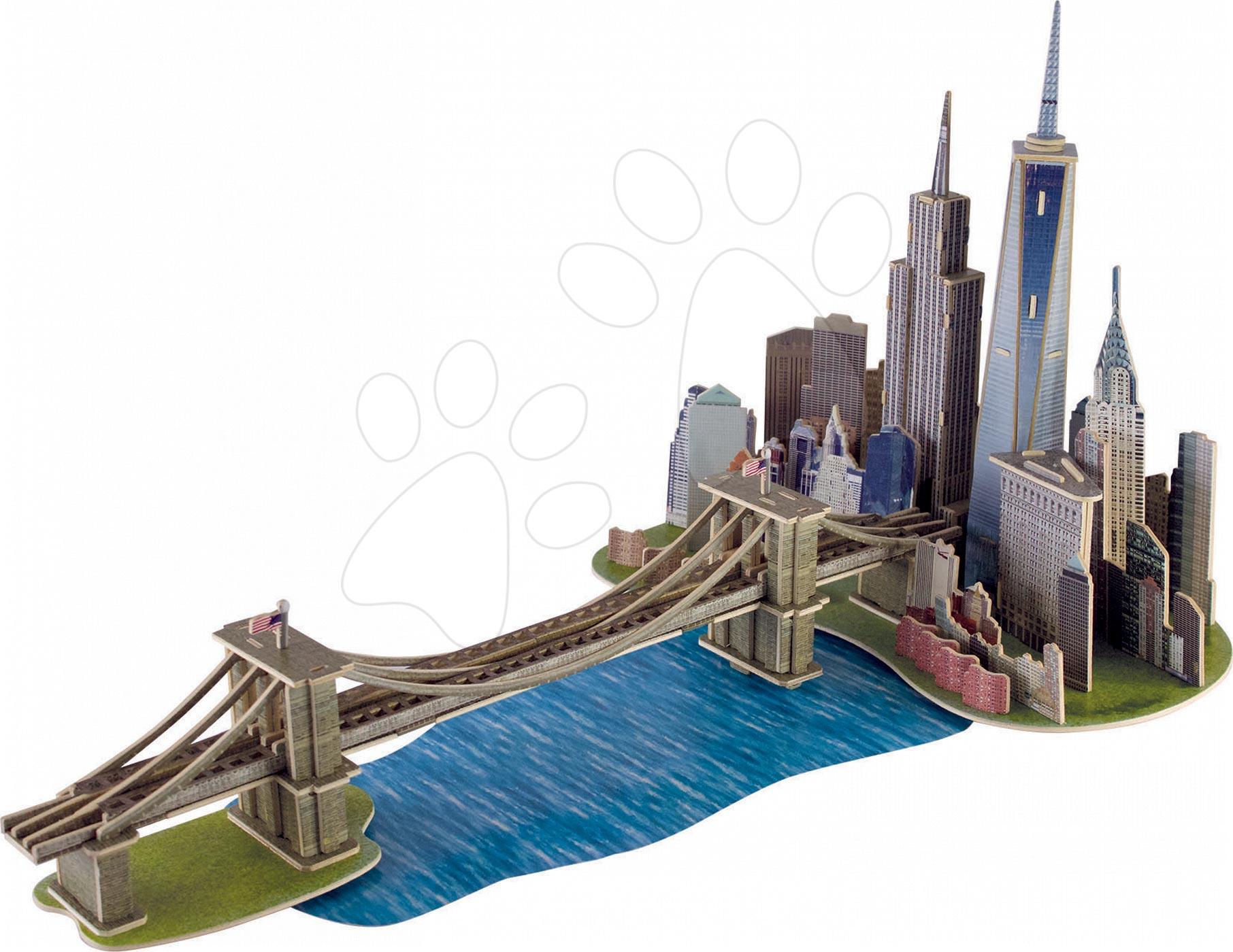 Puzzle z dreva 3D Monument Manhattan Dream Educa 160 dielov od 6 rokov