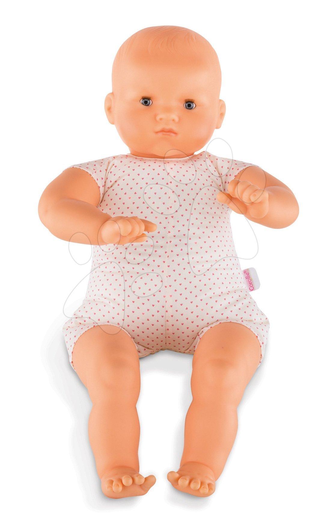 Bábiky od 24 mesiacov - Bábika Bébé Chérie na obliekanie Mon Grand Poupon Corolle 52 cm s modrými klipkajúcimi očami od 24 mes