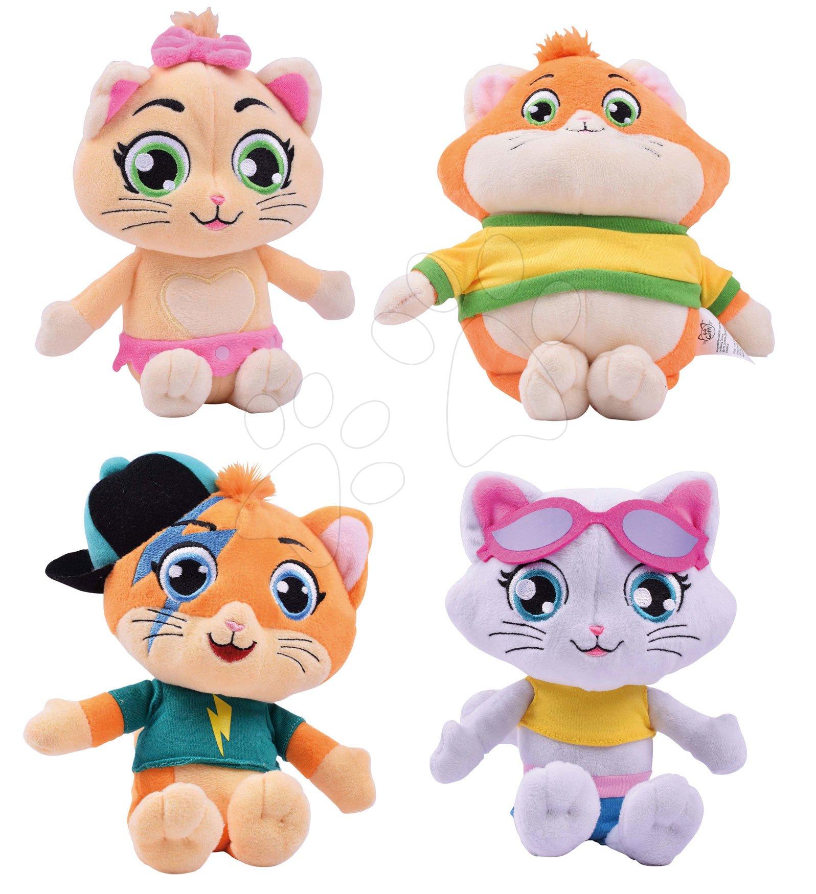 Set plyšové kočky hudební 44 Cats Musical Plush Smoby 21 cm set 4 druhy pro nejmenší od 0 měsíců