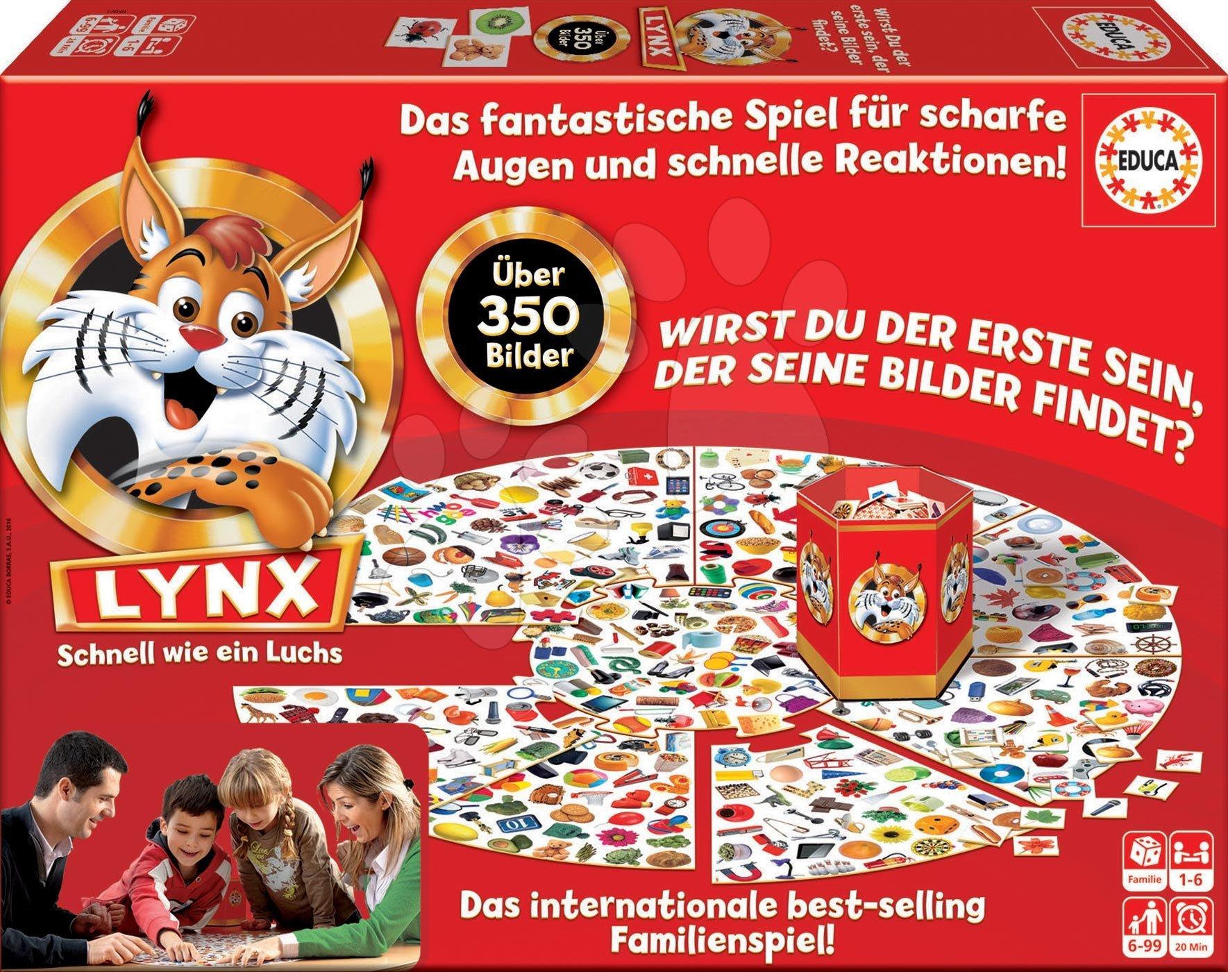 Spoločenská hra Lynx Rýchly ako rys Educa 350 obrázkov v nemčine od 6 rokov