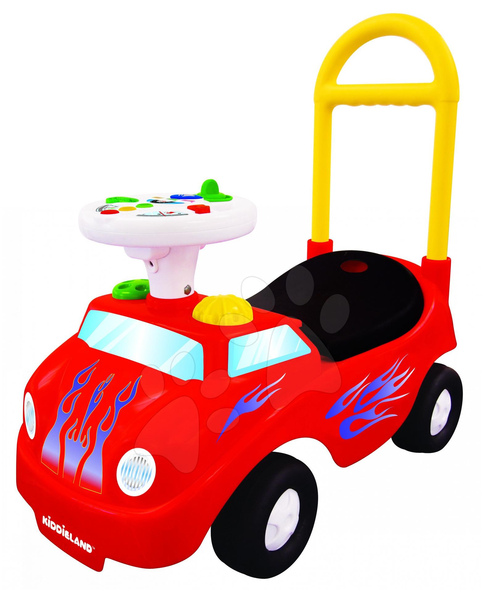 Odrážadlá so zvukom - Activity odrážadlo auto Kiddieland červené so zvukom a svetlom, 12-36 mesiacov červené so zvukom a svetlom