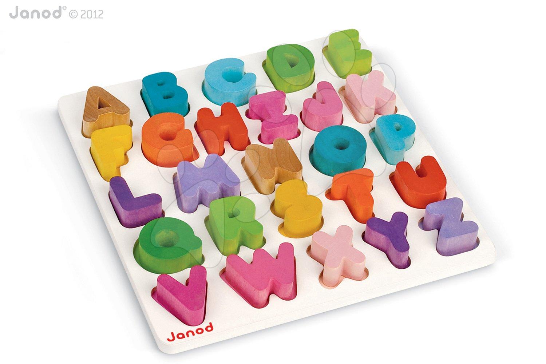 Dřevěná vkládačka Abeceda I Wood Janod puzzle
