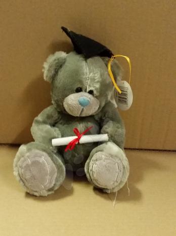 Plyšový medvídek Ilanit 25 cm šedý