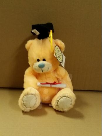 Plyšový medvídek Ilanit 25 cm žlutý
