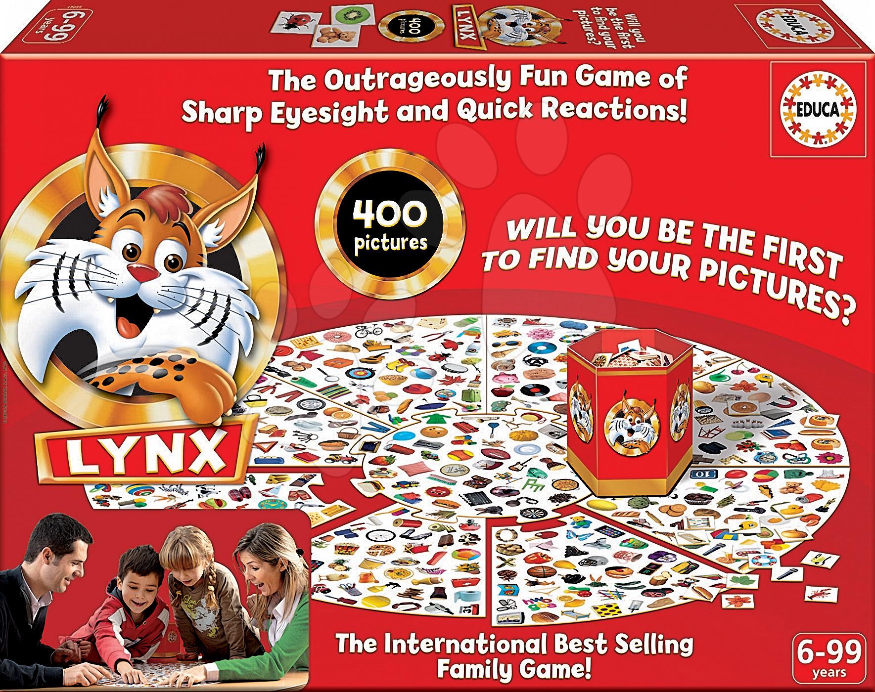 Rodinná spoločenská hra Lynx Educa 400 obrázkov v angličtine od 6 rokov