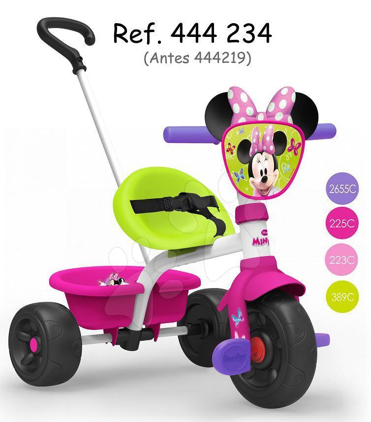 Tříkolka Minnie Be Fun Smoby s vodicí tyčí od 15 měsíců
