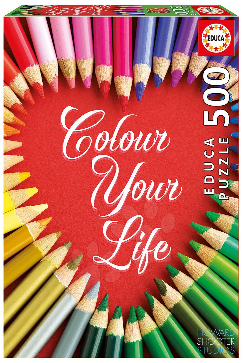 Puzzle Genuine Colour Your Life Educa 500 dílů od 11 let