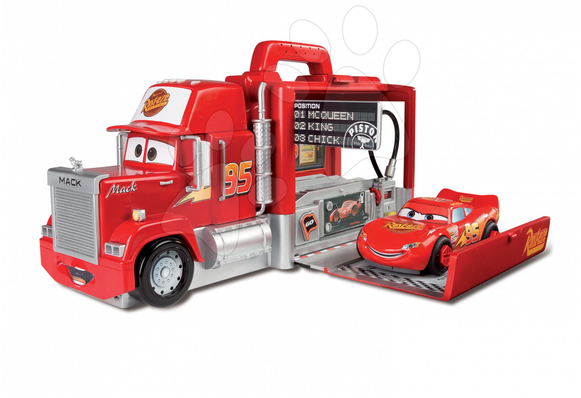 Staré položky - Kamión Mack Truck Autá Neontech Box Smoby elektronický s autíčkom McQueen