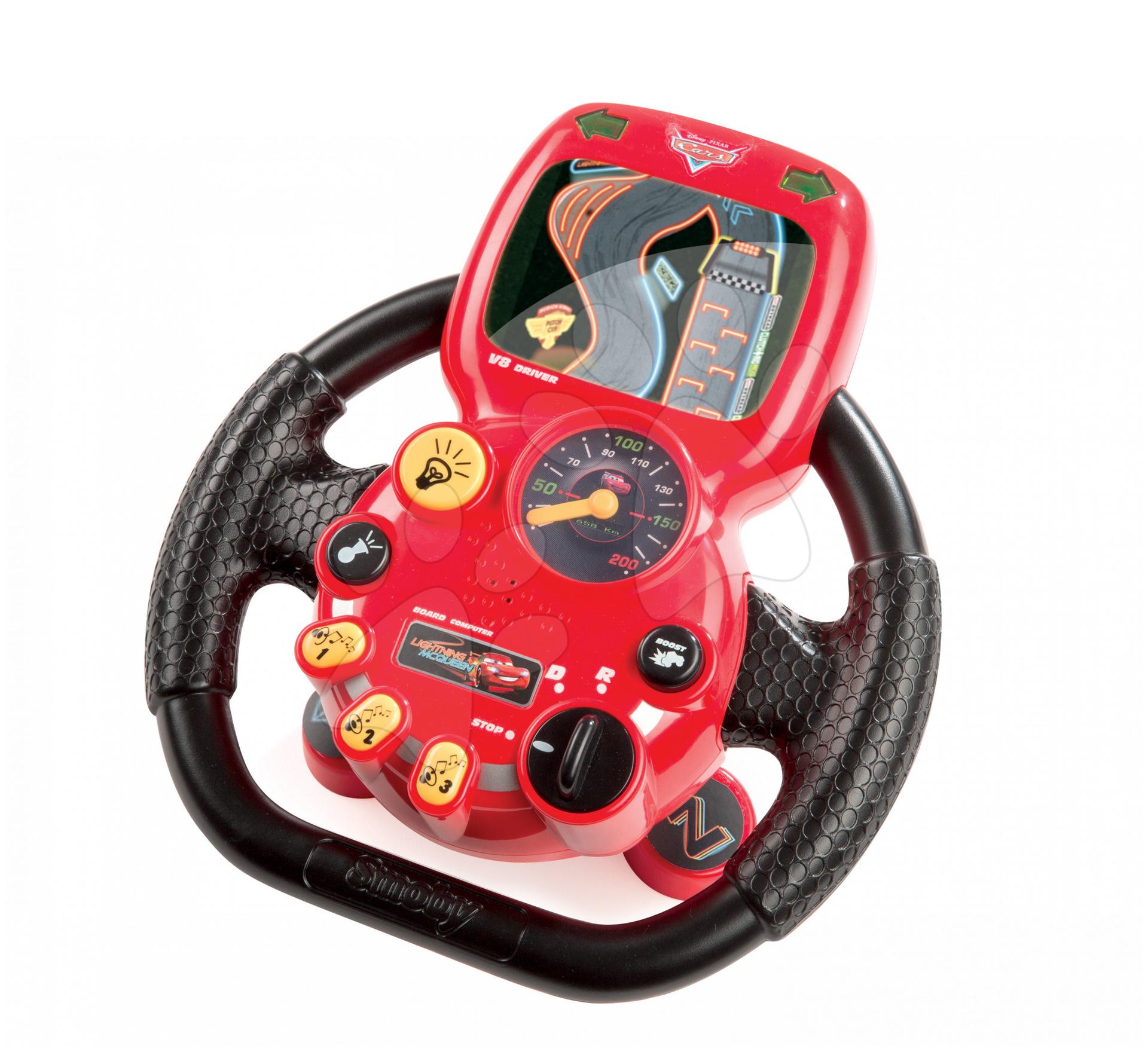 Staré položky - Cars City Driver Trenažér autíčko volant elektrický Smoby so zvukom a svetlom