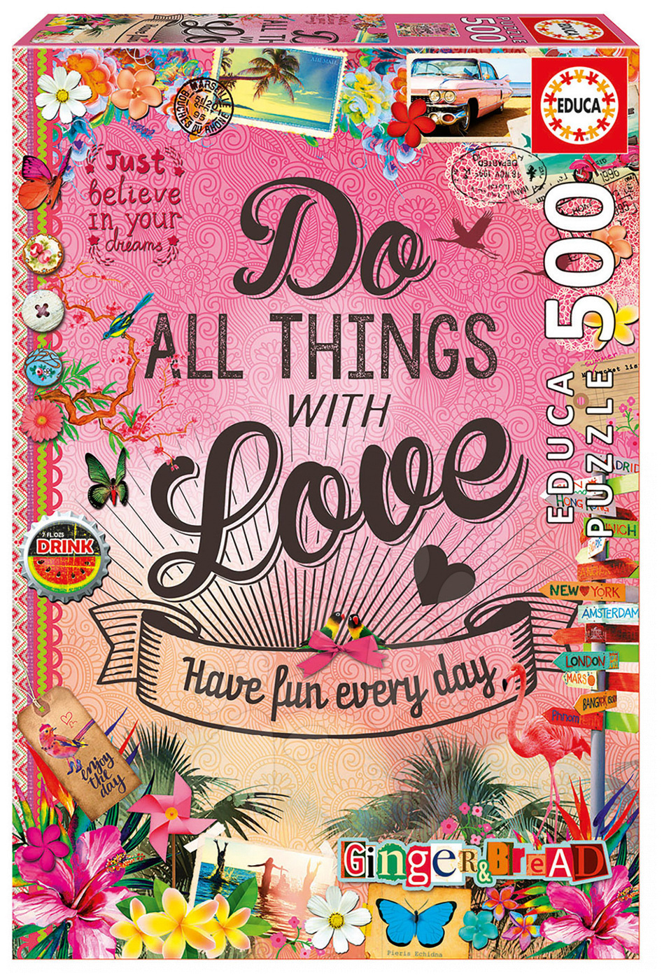 Puzzle Gingerbread Do all the things with Love Educa 500 dílů od 11 let