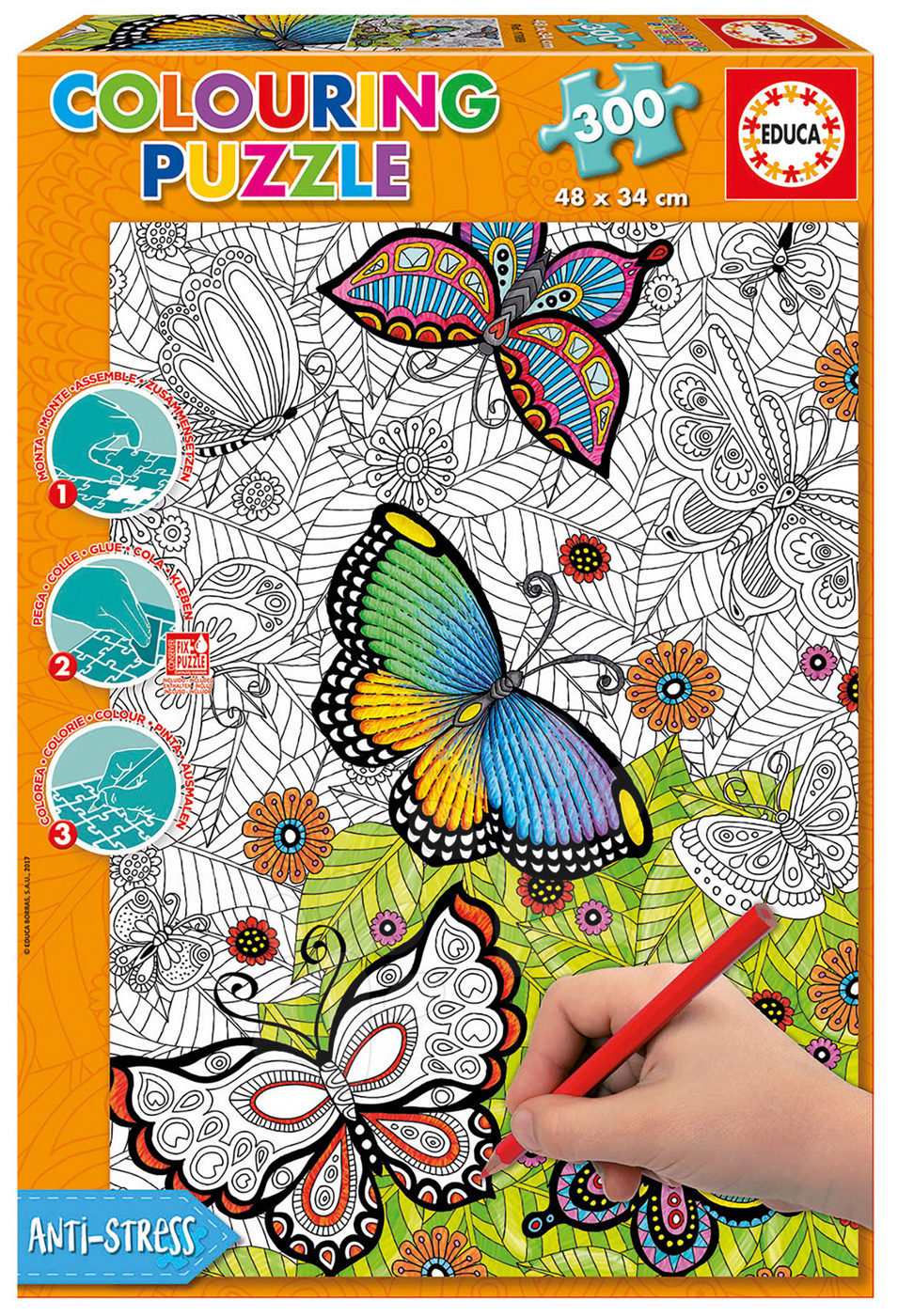 Puzzle Omalovánky All good things are wild and free Doodle Art Educa 300 dílů od 11 let
