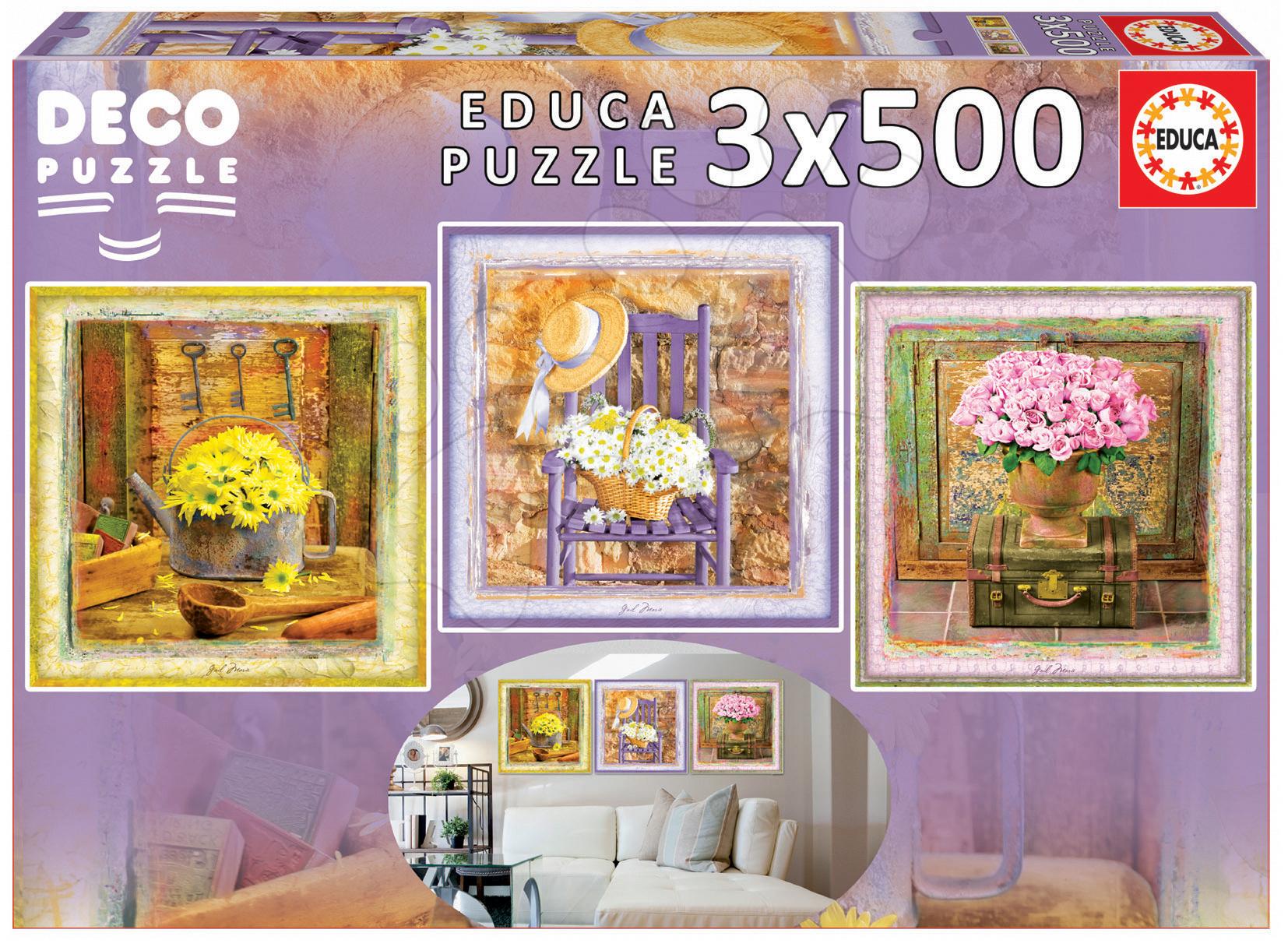 Puzzle Deco Enchanted Moments, Gail Marie Educa 3x500 dílů od 11 let