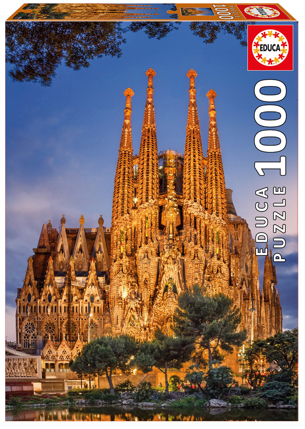 Puzzle Genuine Sagrada Familia Educa 1000 dílků a Fix puzzle lepidlo od 11 let