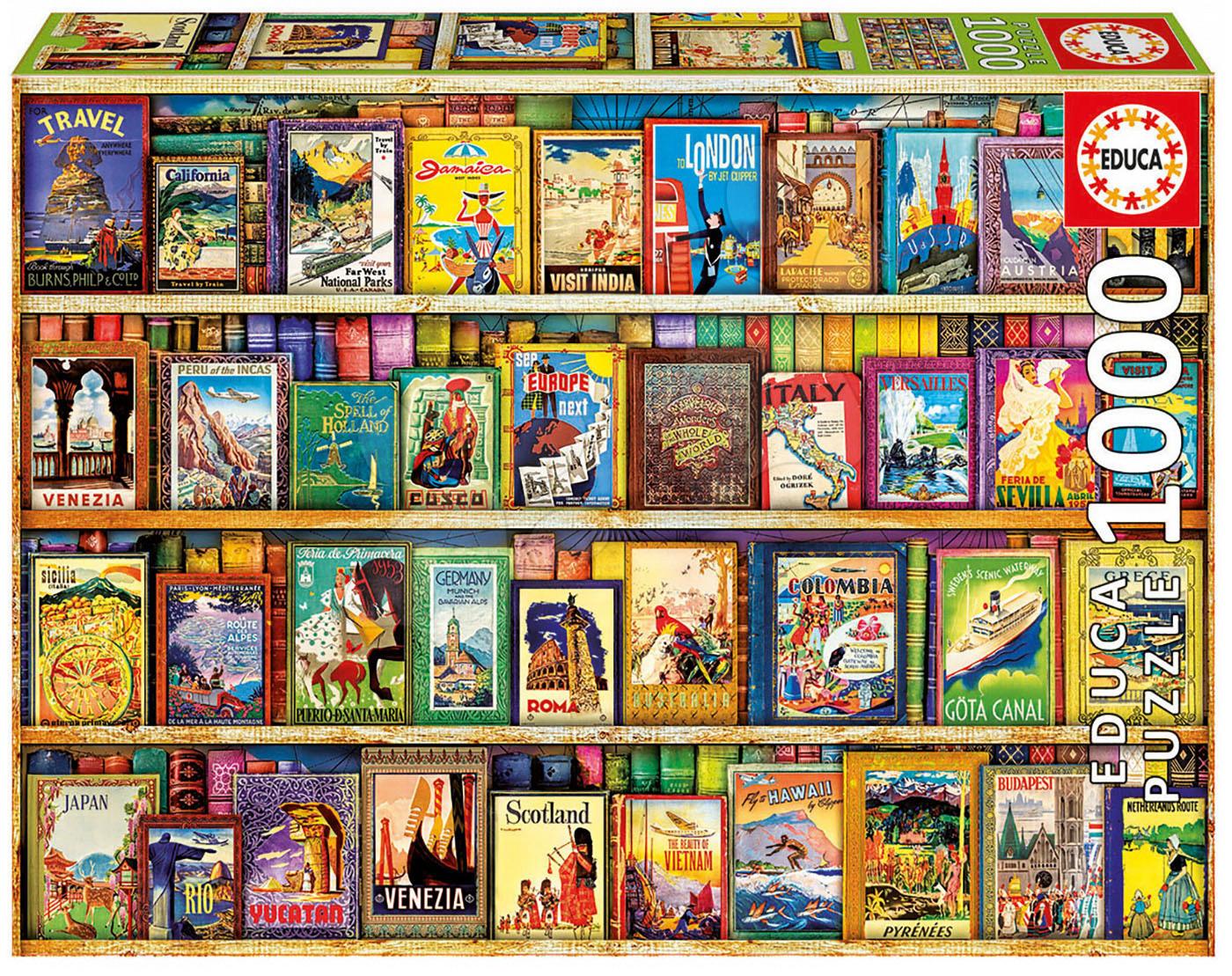 Puzzle Genuine World Travel Guides Educa 1000 dílů od 11 let