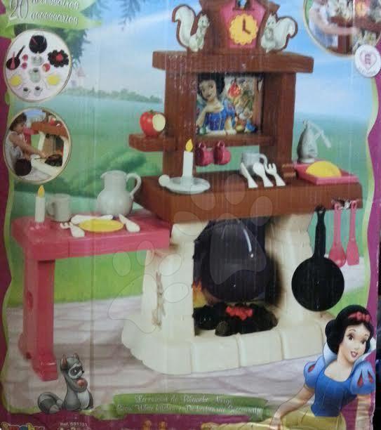 Dětská kuchyňka Sněhurka Smoby elektrická s 20 doplňky