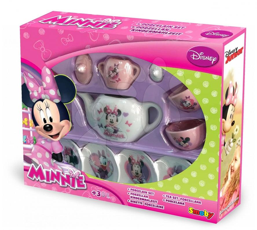 Čajová souprava pro děti Minnie Smoby porcelánová s 12 doplňky