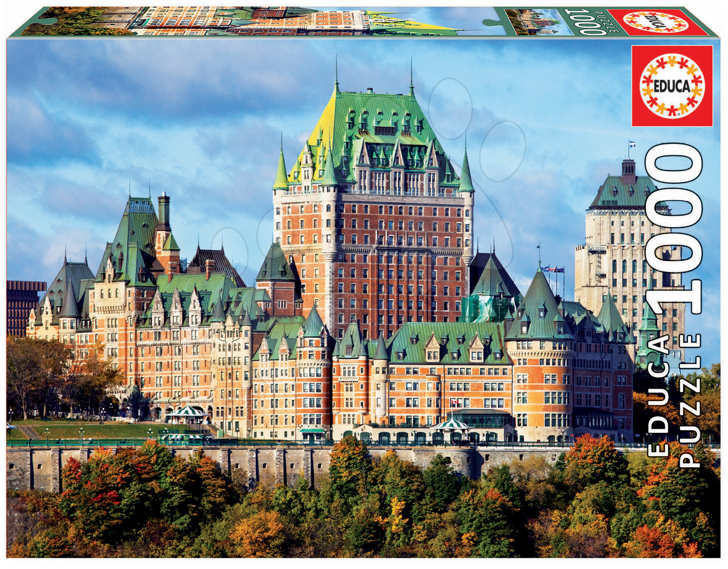 Puzzle Genuine Zámek Frontenac, Québec Educa 1000 dílů od 11 let