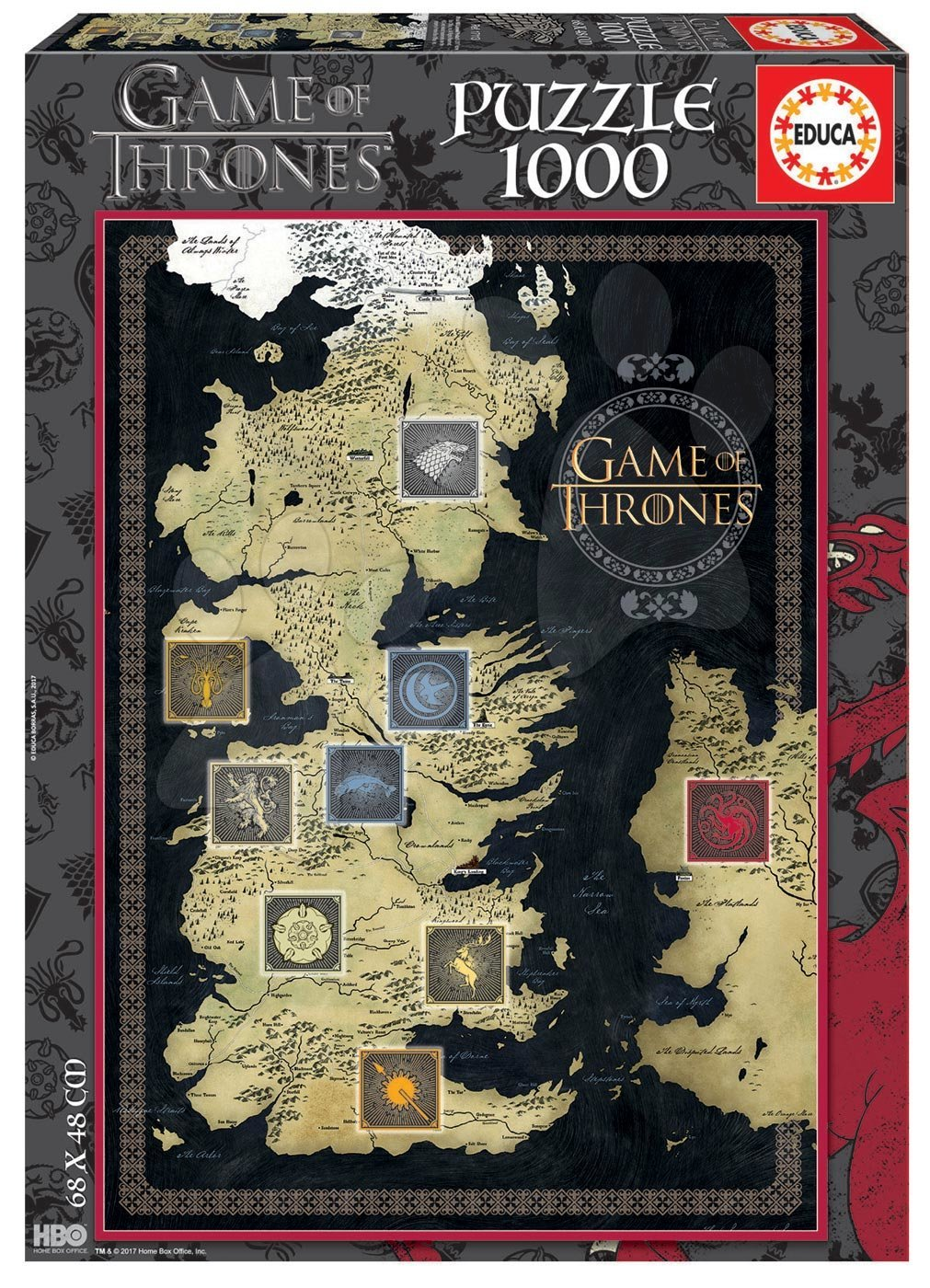 Puzzle Game of Thrones Educa 1000 dílků a Fix puzzle lepidlo